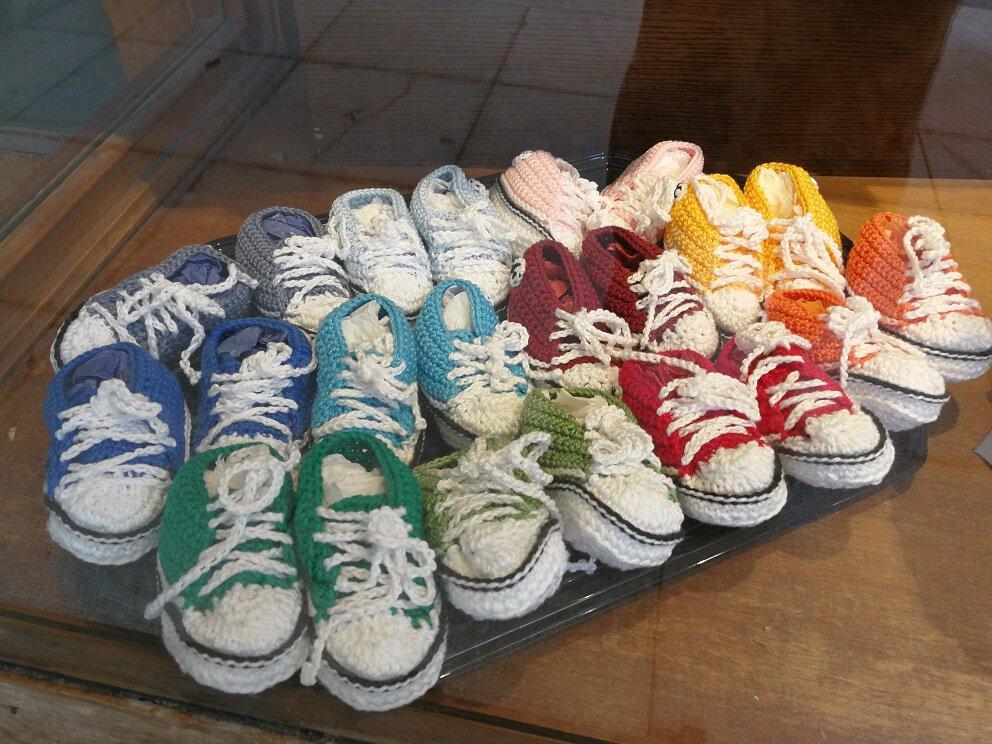 Baby Schuhe gestrickt