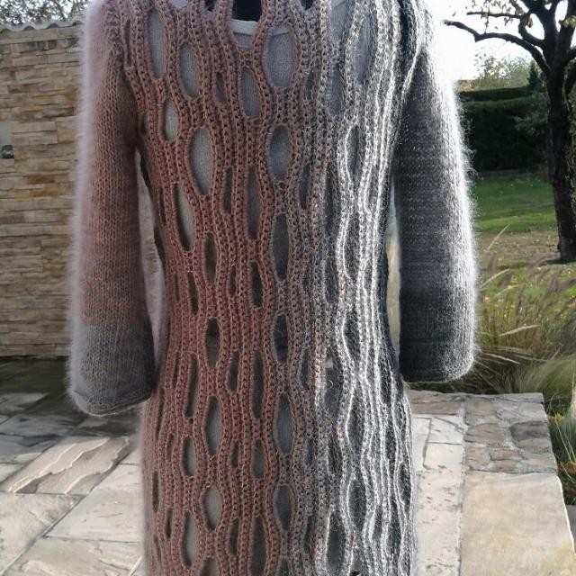 Strick-Häckel-Kleid